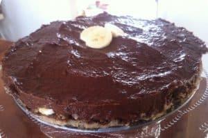 Raw chokolade banan lagkage
