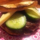 Burger med selleri-bolle - LCHF low carb high fat