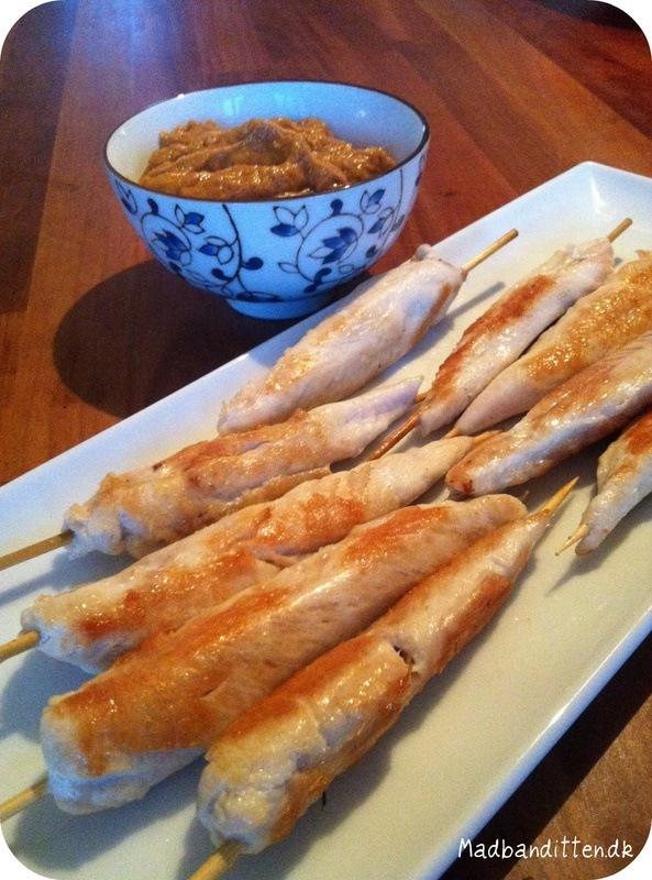Chicken satay uden sukker - LCHF