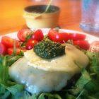 burger med ost og pesto - LCHF low carb high fat