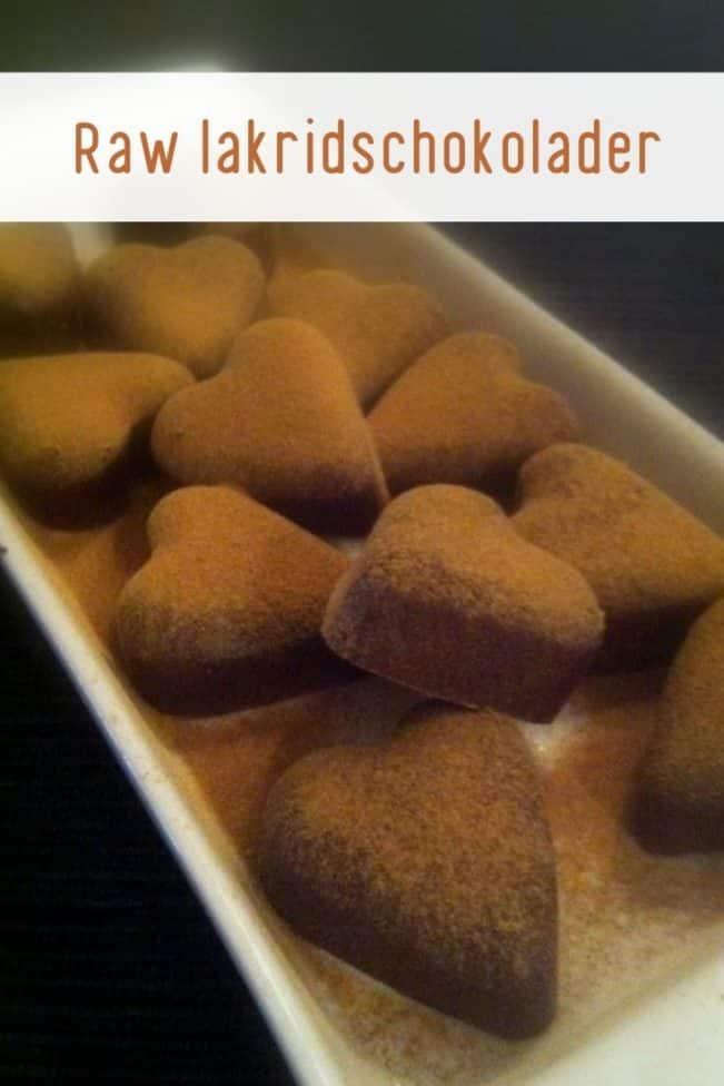 Raw lakridschokolader