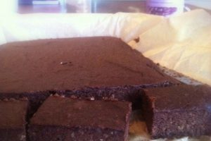 Brownie med bønner