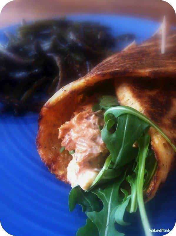 Wrap med makrelsalat