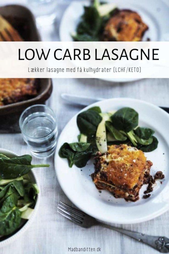 Lasagne - opskrift på lasagne med få kulhydrater LCHF og KETO venlig