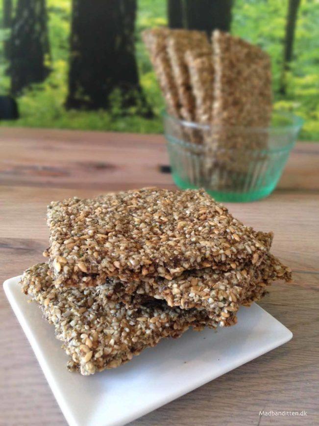sprøde grøntsagsbrød - glutenfri - LCHF - dehydrator