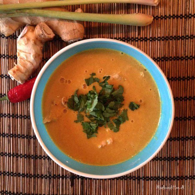 Suppe med blomkål - blomkålssuppe thai-style LCHF
