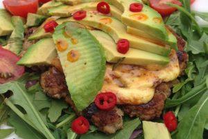 Kyllingeburger med chili LCHF low carb high fat