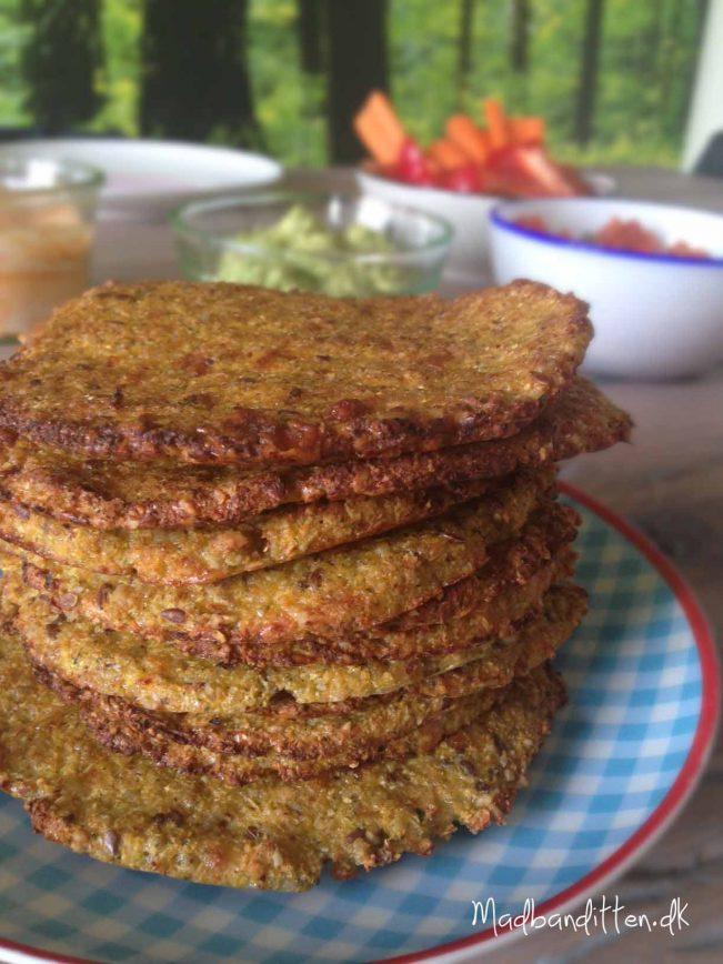 Flade grøntsagsbrød LCHF glutenfri