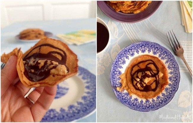 peanutpandekager med chokoladesovs - Madbanditten.dk