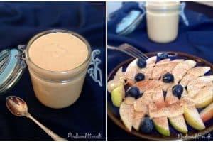 Mandelsmør - lækker æbledessert med hjemmelavet mandelsmør