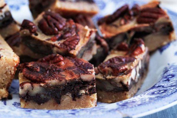 pekan pie stykker - sukkerfri og LCHF - foto: Columbus Leth til LCHF brød & kager