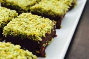 Raw brownie med mint