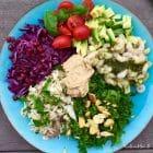Sund start på 2015: Regnbuesalat med rejer og blomkålshummus