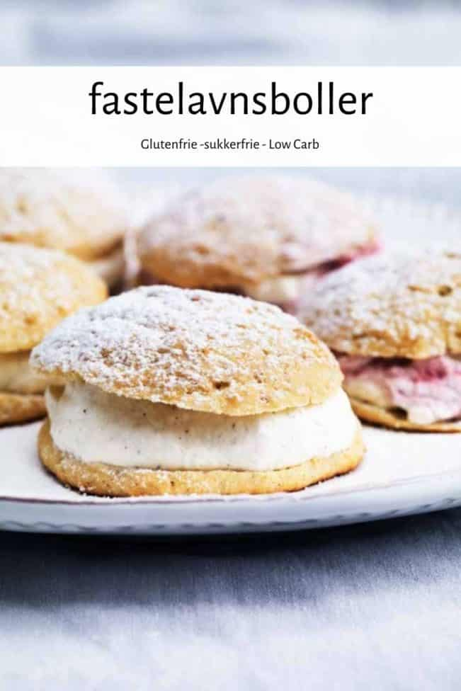 Fastelavnsboller - opskrift - glutenfri, sukkerfri, Low Carb