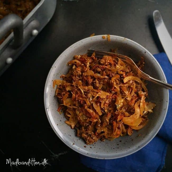 hakket oksekød hvidkål karry