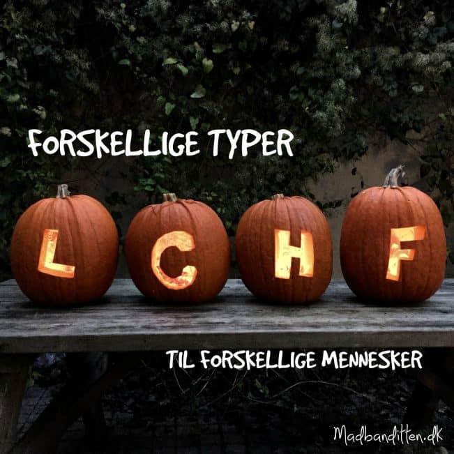 Striks, normal, liberal eller træningsliberal LCHF - se de forskellige typer her --> madbanditten.dk