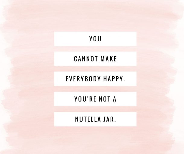 Man kan ikke være alt for alle...