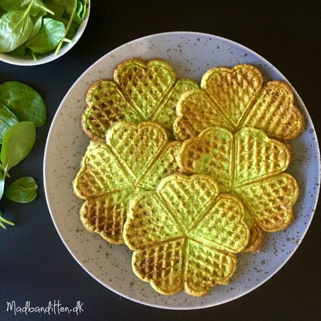 Vafler Med Spinat Opskrift På Grønne Spinatvafler Med Urter
