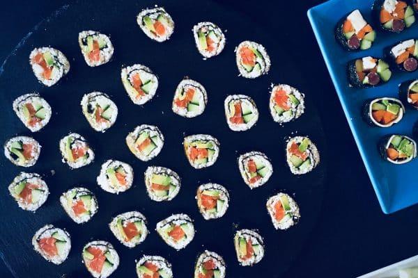 sushi med blomkålsris - LCHF / keto