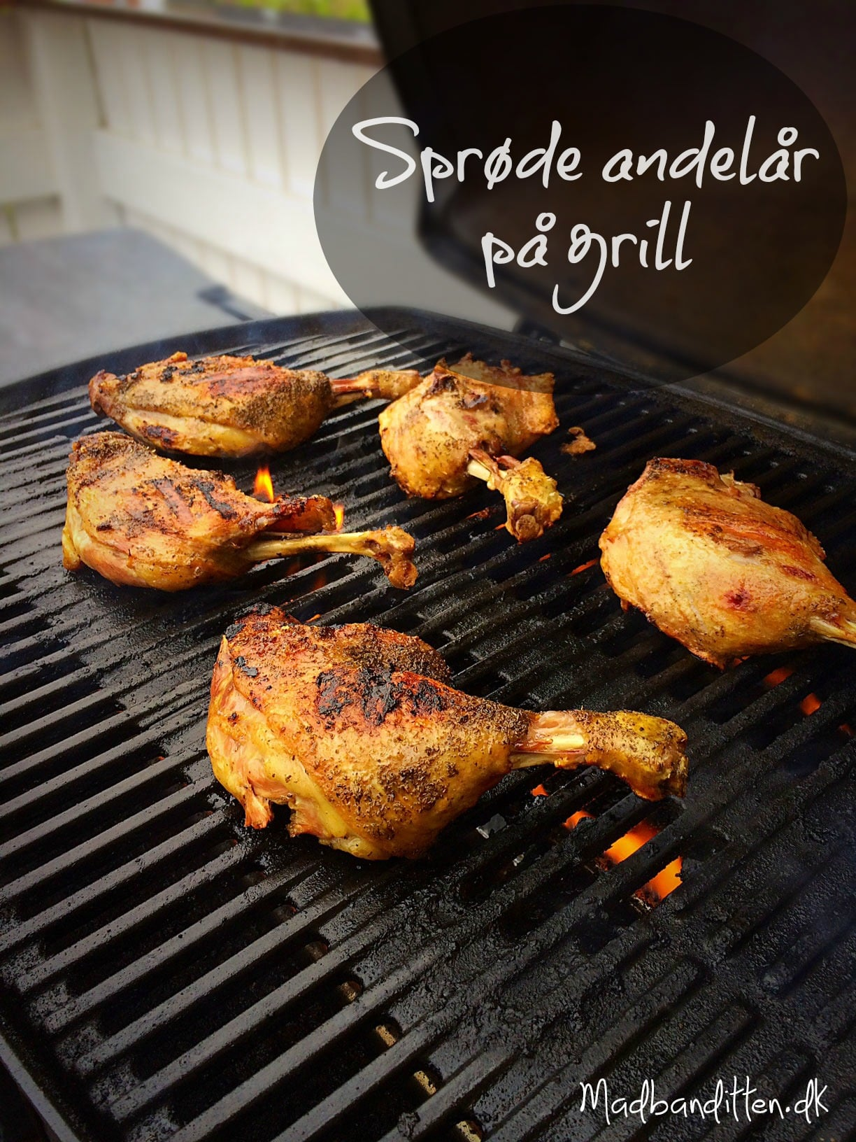 Sprøde og møre andelår på grill --> madbanditten.dk