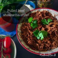 Pulled beef shawarma style --> Madbanditten.dk