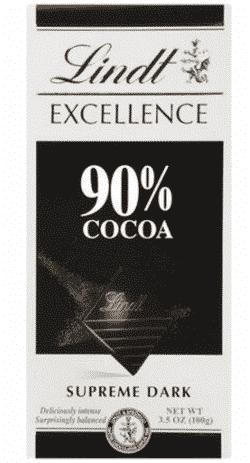 Lindt 90% chokolade