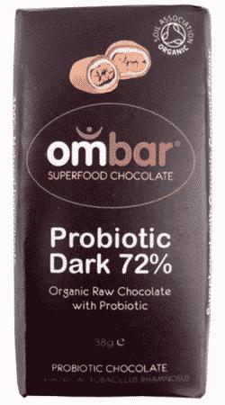 Ombar raw chokolade med probiotiske bakterier
