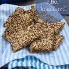 Kerneknækbrød med højt fiberindhold. Opskrift her --> Madbanditten.dk