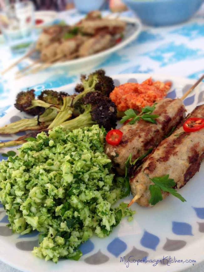 Oriental spiced kabobs for the grill --> MyCopenhagenKitchen.com