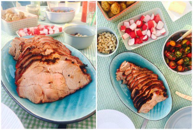 Rôtisserie nakkefilet på grillen - lækker grillmenu med minimal indsats! --> Madbanditten.dk