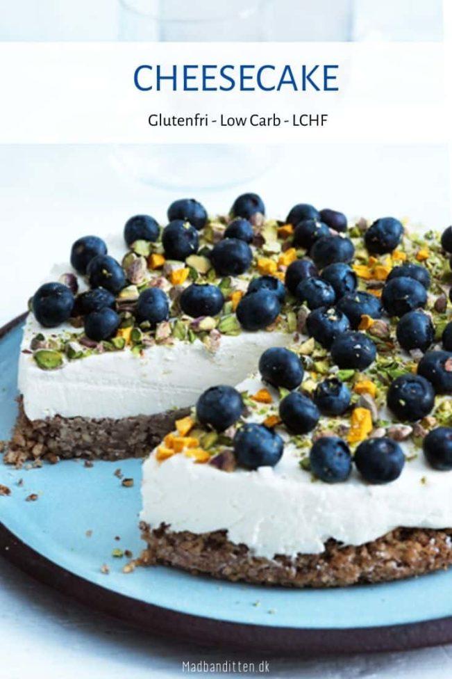 Cheesecake - bedste opskrift på cheesecake uden sukker og gluten