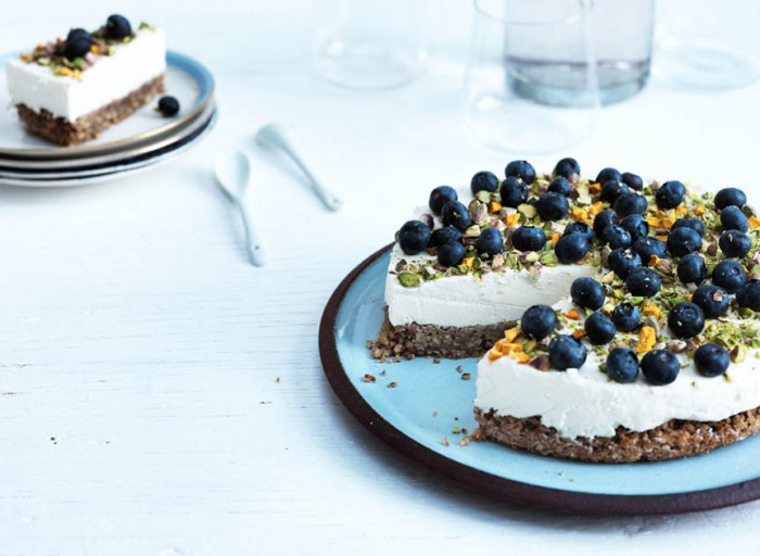 cheesecake blåbær