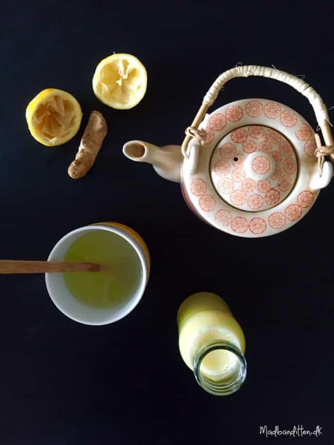 Varm ingefærdrik til at lindre din forkølelse - sukkerfri og low carb --> Madbanditten.dk