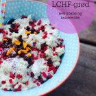 LCHF-grød med kokos og kakaonibs - lækkert low carb alternativ til havregrøden --> Madbanditten.dk
