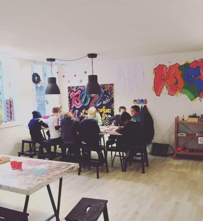 Grafitti workshop på Børnemuseet
