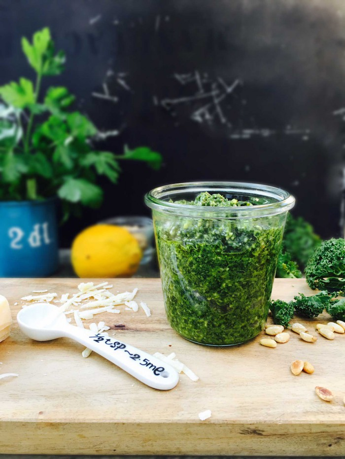 Kale pesto - - a nutritious green recipe