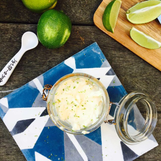 Lækker opskrift på lime mayonnaise. Perfekt til skaldyr --> Madbanditten.dk
