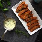 Crispy fried pork with parsley sauce - recipe for Denmark's national dish --> MyCopenhagenKitchen.com