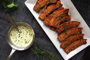 Crispy fried pork with parsley sauce - recipe for Denmark's national dish --> MyCopenhagenKitchen.com