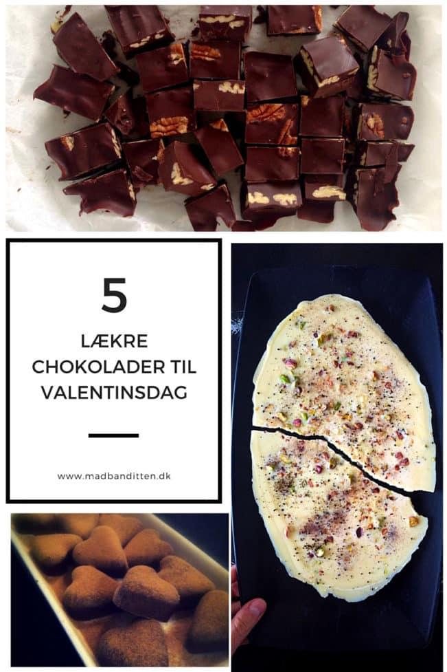 5 x lækker chokolade til valentinsdag --> Madbanditten.dk