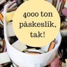 4000 ton påskeslik, tak! Vi skal ved have lov at hygge os og alt med måde og alt det der. --> Madbanditten.dk