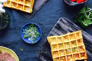Cream cheese waffles - perfect grain-free and gluten-free alternative to bread in the lunch box --> MyCopenhagenKitchen.com