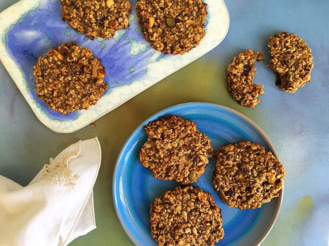Banan-havregryn cookies - glutenfrie og sukkerfrie cookies - helt naturligt!