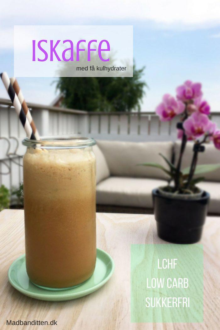 Iskaffe med få kulhydrater - her er den iskaffe, du kommer til at drikke hele sommeren. LCHF, lowcarb og sukkerfri. Opskrift fra Madbanditten.dk