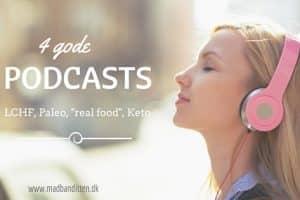 Lyt og Lær: 4 gode podcasts (LCHF, paleo, real food, keto), du kan lytte til i løbet af sommeren. Anbefaling fra Madbanditten.dk