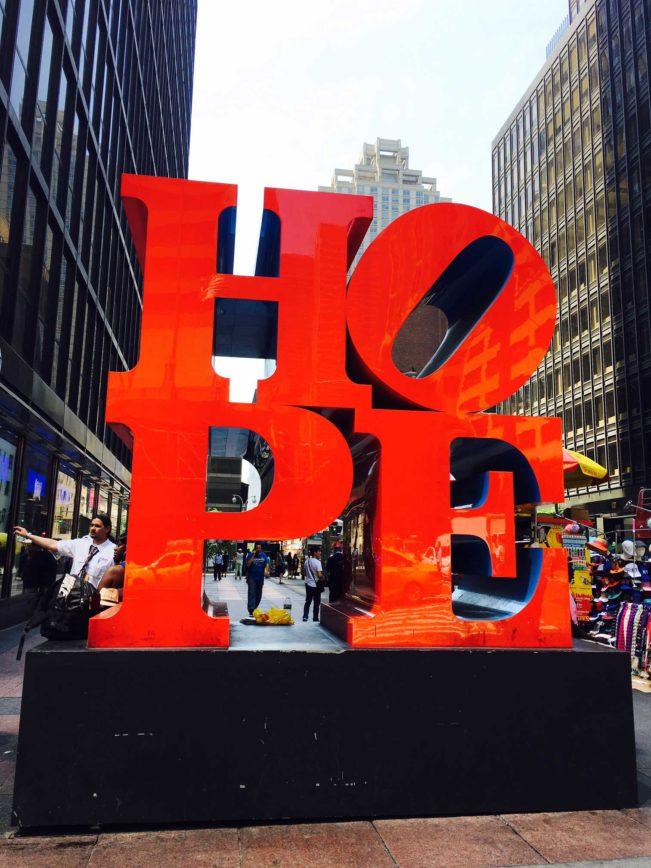 HOPE skulptur - New York