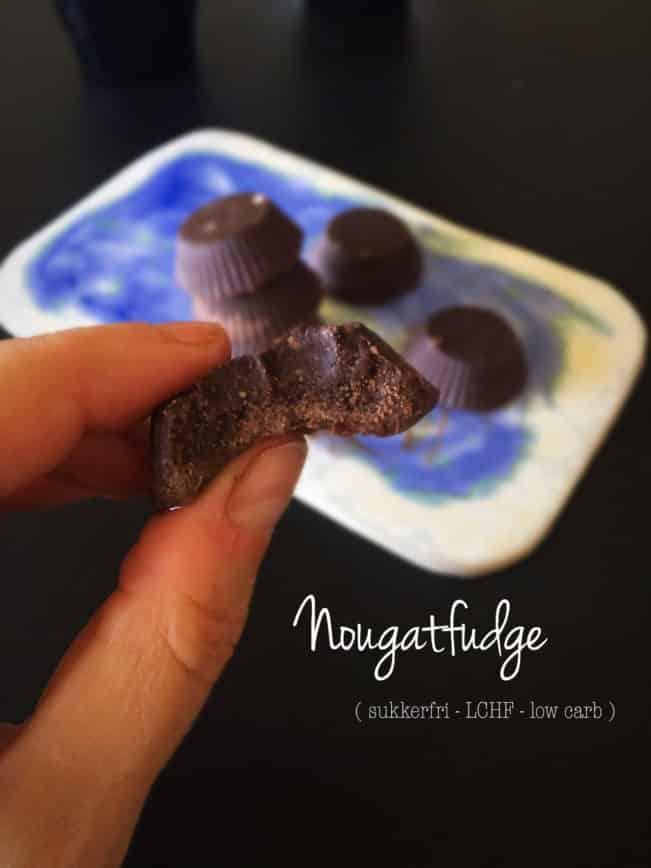 Nougatfudge - LCHF/keto fatbombs - sukkerfri og low carb opskrift her: