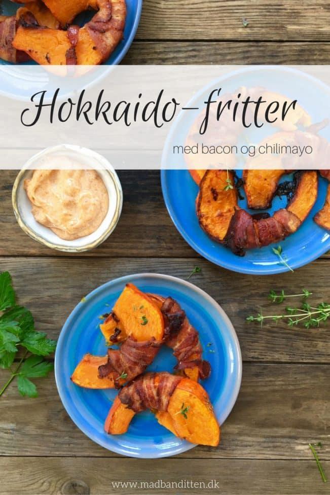 hokkaidofritter med bacon og chilimayo -lækker opskrift med græskar