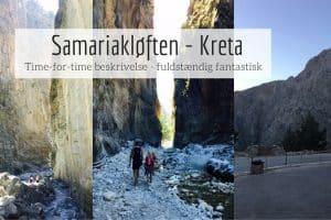 Samariakløften - se tidslinje for hele vores dagstur fra Chania til Samaria og tilbage igen og få tips til turen og til at have børn med.