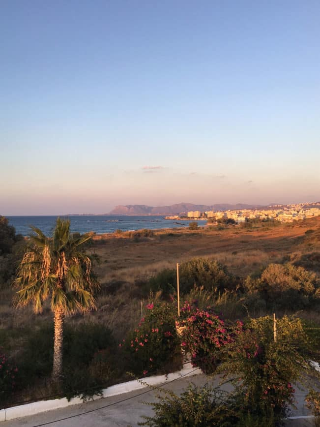 Kreta - Udsigten fra Sea View Aparthotel, Chania